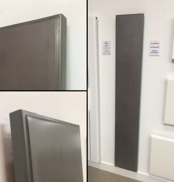 Dansk Raw designer radiator in bare metal finish