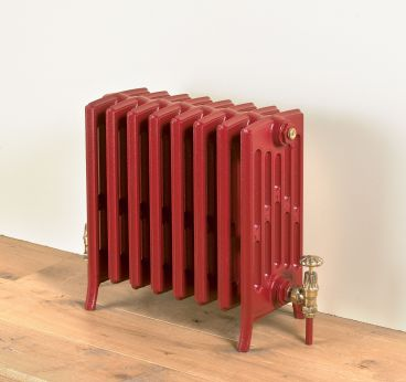 Etonian-6-cast-iron-radiators-Ruby-red