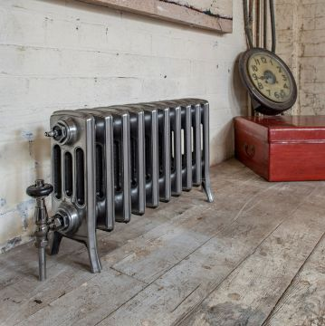 For 4 column polished cast iron radiator - 355mm high