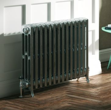 Forge cast iron radiator in a satin lacquer finish