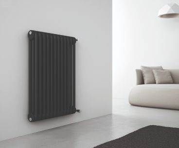 Kiclos horizontal radiator in black