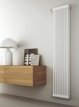 Kiclos vertical radiator in white