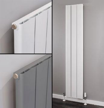 Ronde tall aluminium radiator collage