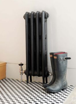 Titus 2 column cast iron radiator in anthracite