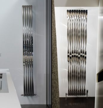 Twister stainless steel vertical radiator