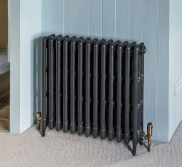Victorian 3 cast iron radiator, 745mm high. Image credit: Period Living magazine