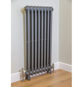 Wilberforce cast iron radiator, 1040mm high in Old Pewter