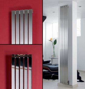 Zermatt stainless steel radiator in polished or brushed finish